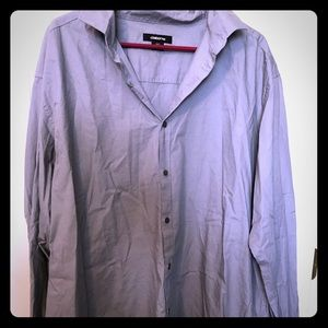 Gray long sleeve button up 6/$20
